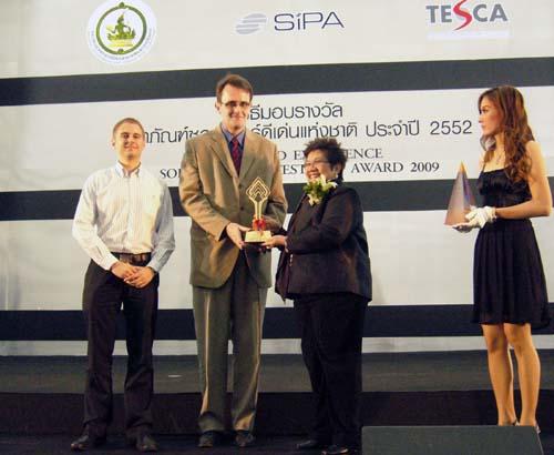 winner ticta 2009 on stage